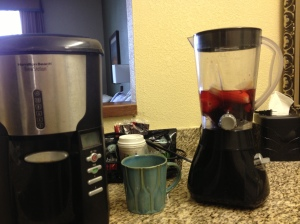 everyone brings their coffee pot and blender to hotels, right?