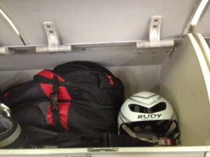 ...and stow our gear in overhead compartments :)