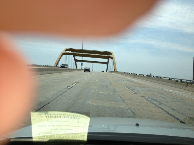 Hoan Bridge, northbound side of I-794...the same side that will be closed for the race :)