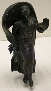 Since author David K. Randall nixed Nyx from his book, I thought I should give her a little extra love in this post. Here's a bronze statue of her, from the Roman era.